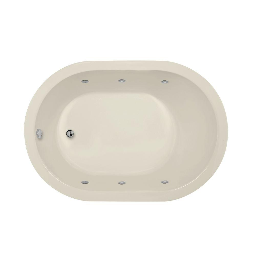 Hydro Systems Valencia 5 ft. Reversible Drain Whirlpool Tub in Biscuit