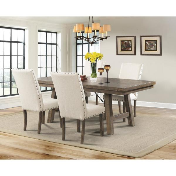 Dex 5-Piece Dining Set-Table 4 Upholstered Side Chairs DJX100S5PC