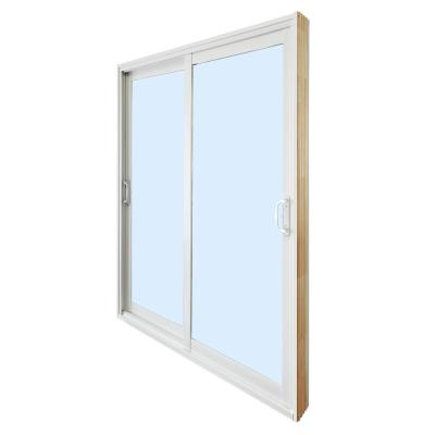 Milgard Windows Doors Tuscany 60 In X 80 In White Left Hand Vinyl Sliding Patio Door 8621 The Home Depot