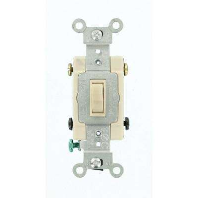 15 Amp Single-Pole Toggle Framed 4-Way AC Switch, Light Almond