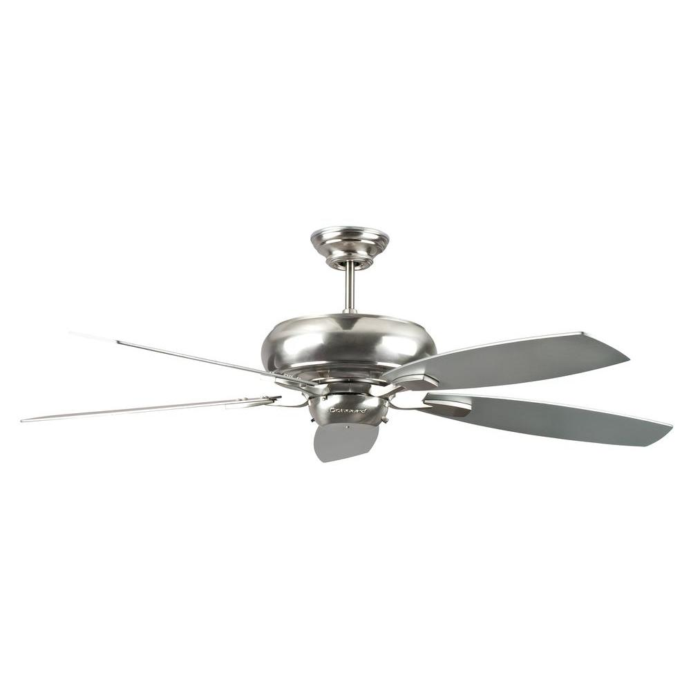 Radionic Hi Tech Nevaeh 52 in. Stainless Steel Ceiling Fan with 5 ...