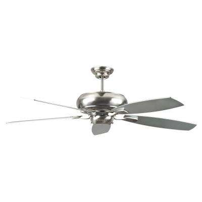 Nevaeh 52 in. Stainless Steel Ceiling Fan with 5 Blades