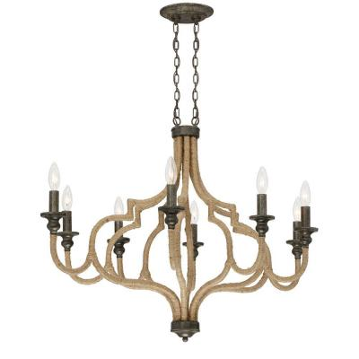 Corda Collection 8-Light Oval Bronze Chandelier