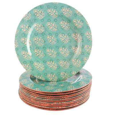 Solina 9 in. Aqua Melamine Dessert Plate (Set of 12)