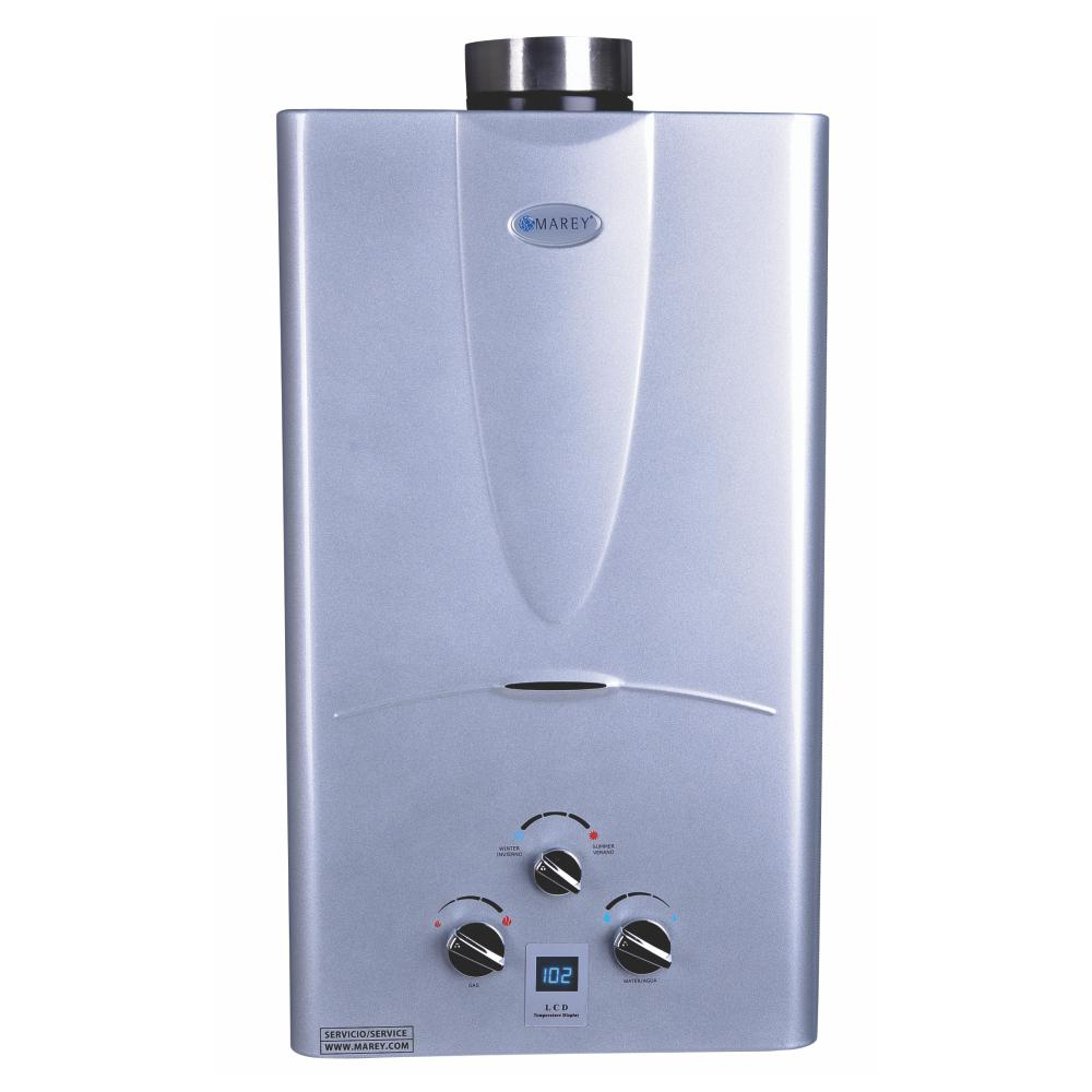 Marey 3 1 Gpm Natural Gas Digital Panel Tankless Water Heater Ga10ngdp The Home Depot