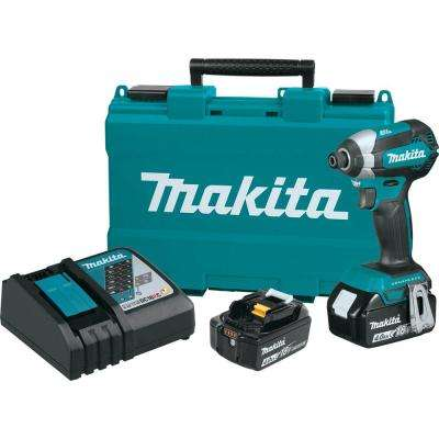 18-Volt LXT Lithium-Ion Brushless 1/4 in. Cordless Impact Driver Kit with (2) Batteries 4.0Ah, Charger, Hard Case