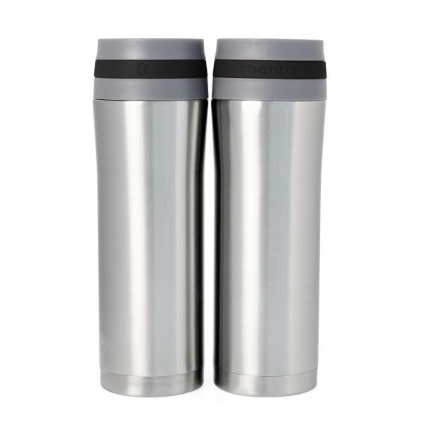 a650573488 Chantal Vacuum Insulated 15 oz. Black Band Stainless Steel Travel Mug