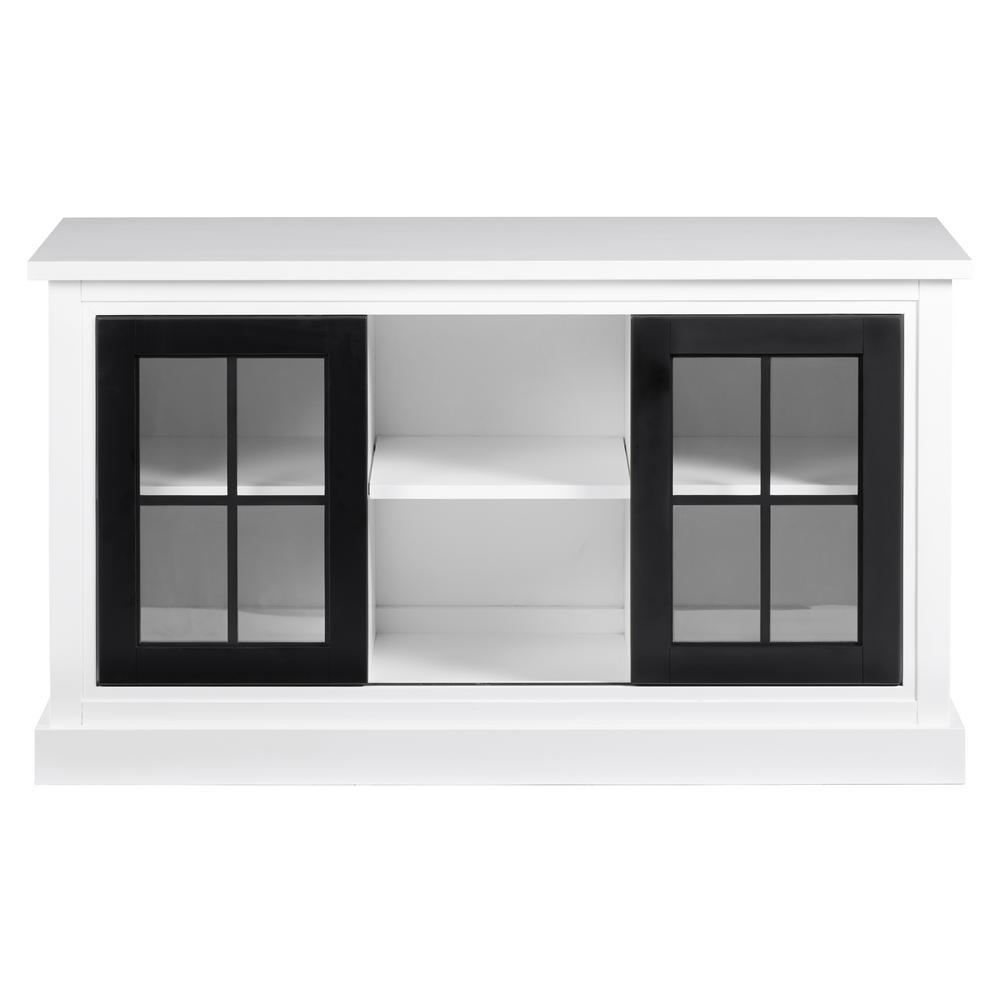 Habitat Snow/Black Sofa/Console Table