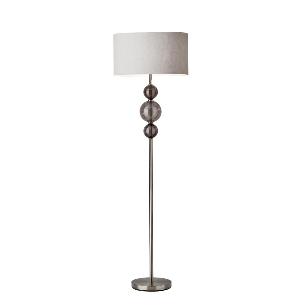 Donna 68 in. Nickel Floor Lamp