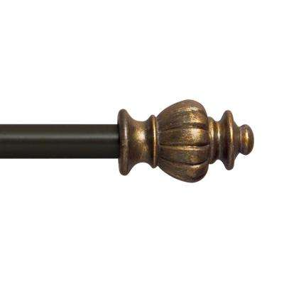 28 in. - 48 in. Othello 1/2 in. Petite Cafe Decorative Window Curtain Rod in Oil Rubbed Bronze