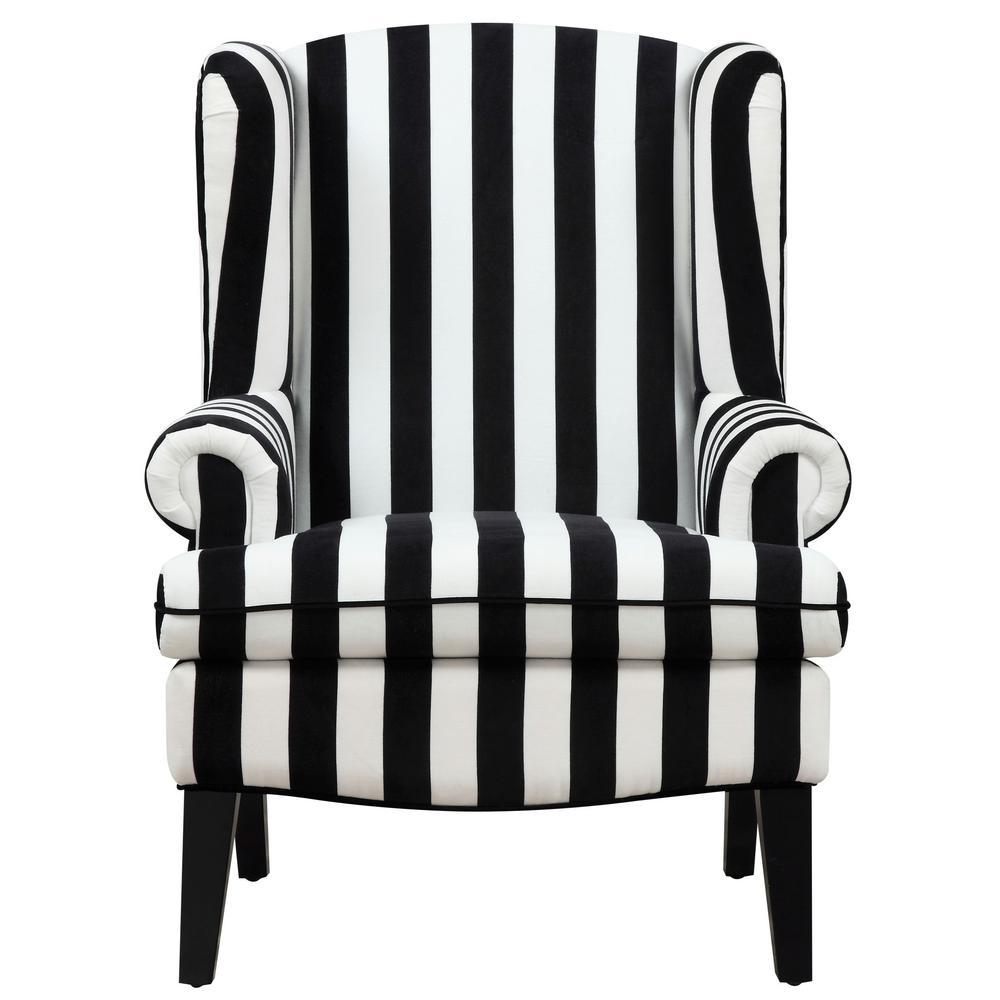Image result for Paris Velvet Wingback Chair - Black/White.