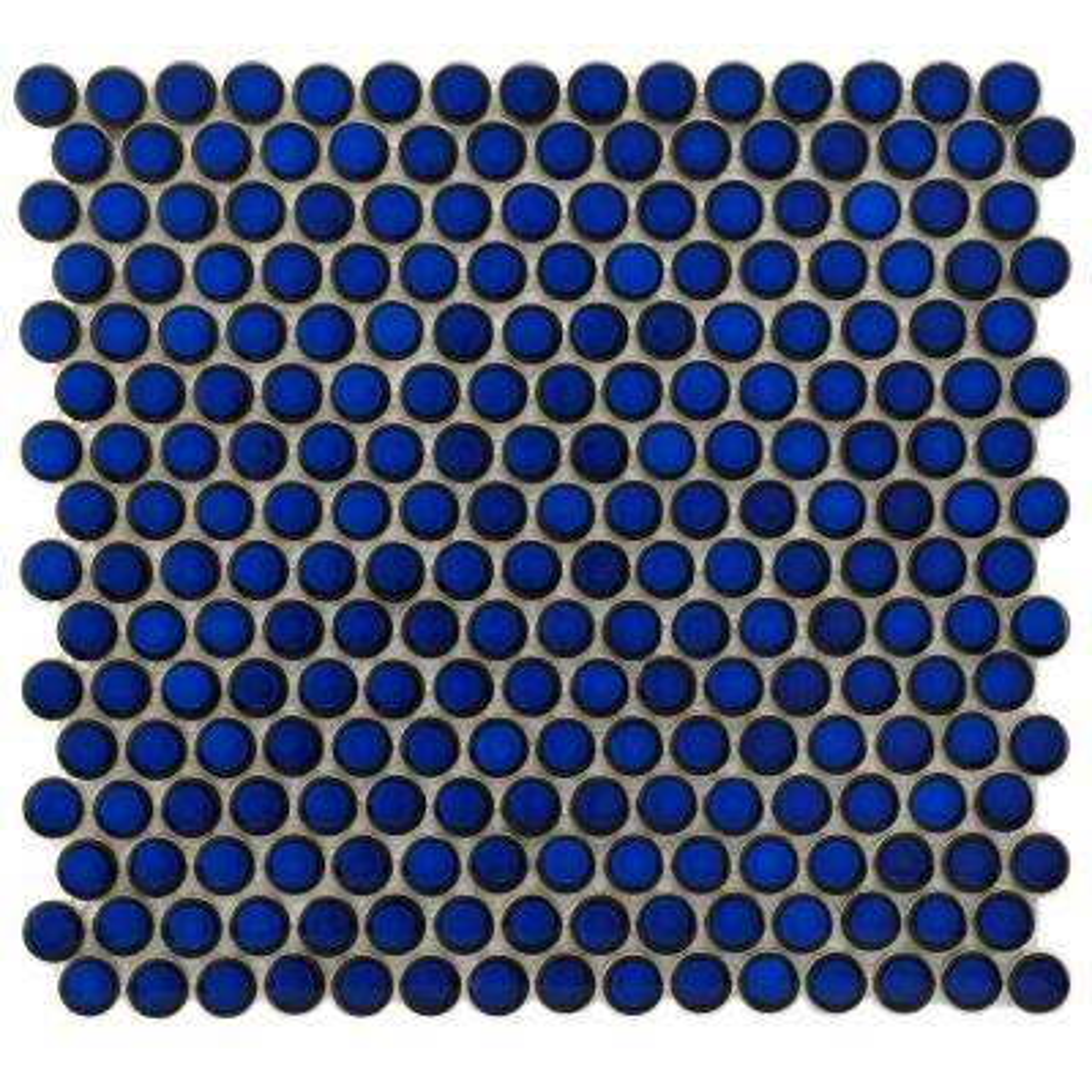 Hudson Penny Round Blue Eye 12 In X 5 8