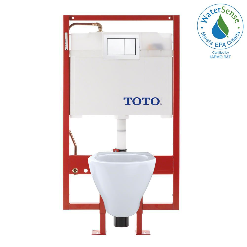 TOTO Aquia Duofit 2-piece 1.6 and 0.9 GPF Dual Flush Wall Mounted ...