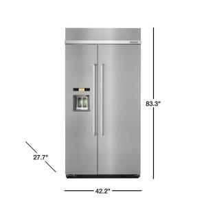 KitchenAid 25 cu. ft. Built-In Side by Side Refrigerator in ...