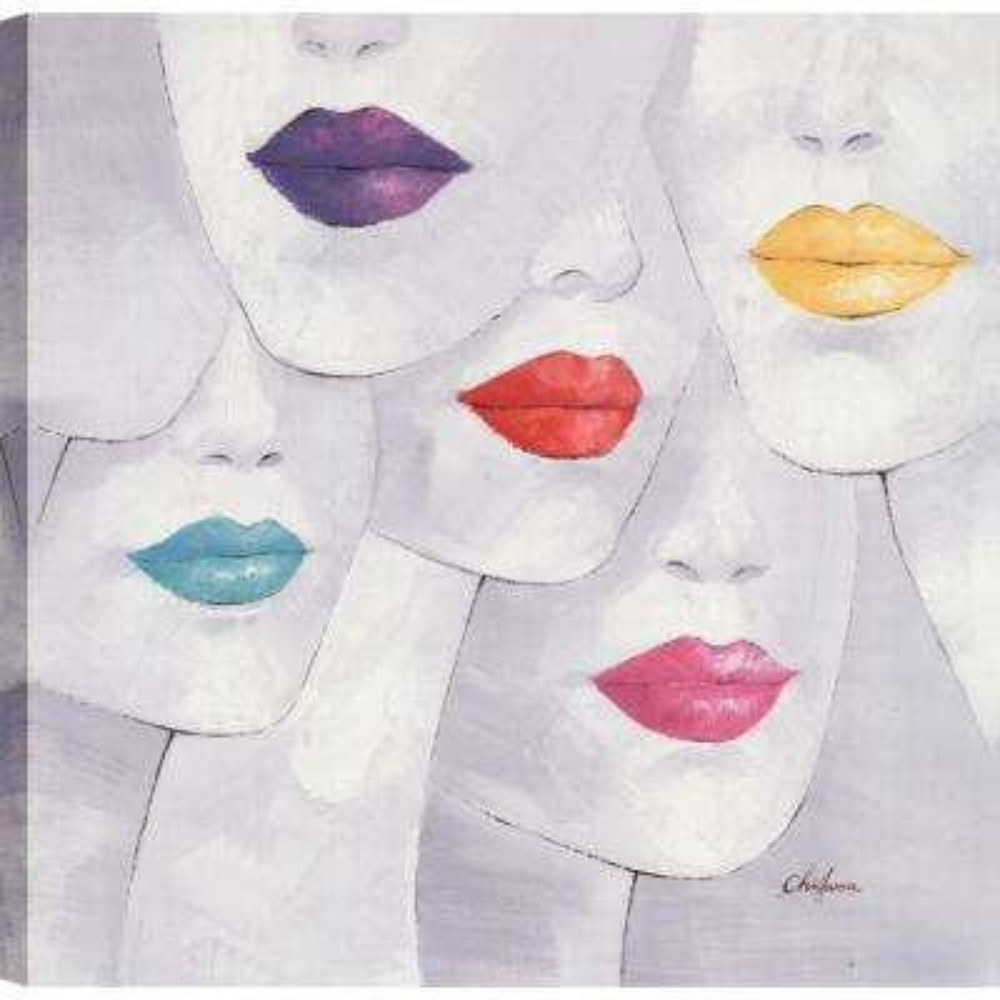 Beautiful Ladies, Figurative Art, Canvas Print Wall Art Dcor 24X24 Ready to hang by ArtMaison.ca