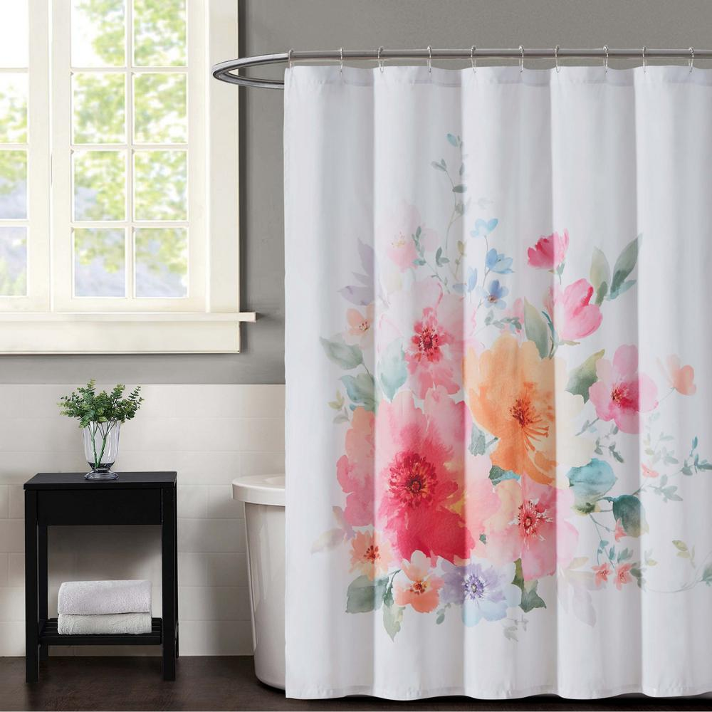 Christian Siriano Bold Floral Multiple Shower Curtain