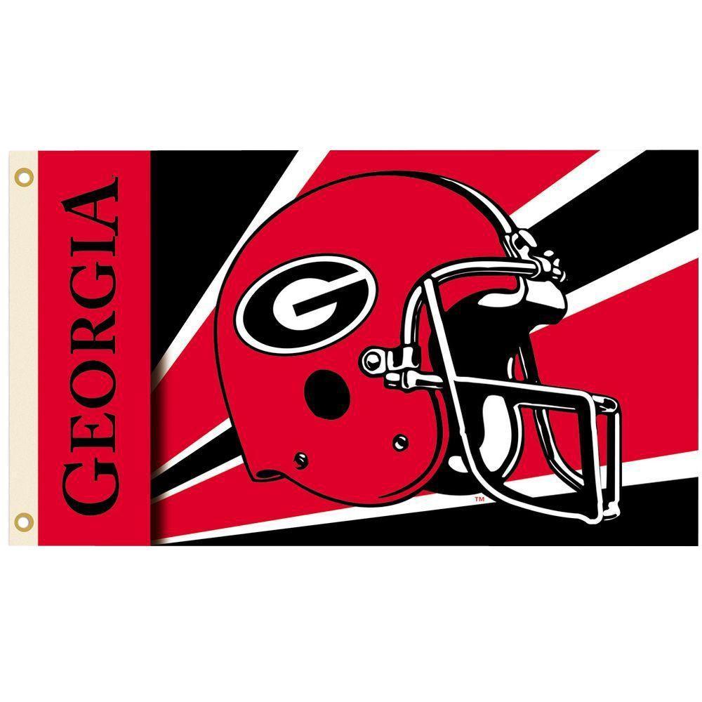 NCAA 3 ft. x 5 ft. Helmet Georgia Flag