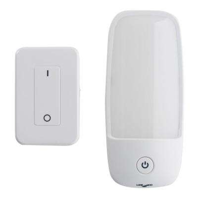 Wireless White RC LED Wall Sconce Set