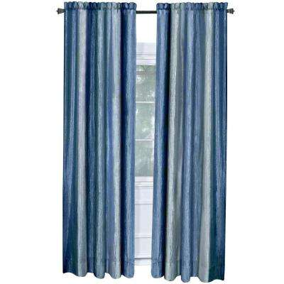 Semi-Opaque Ombre 50 in. W x 84 in. L Curtain Panel in Blue