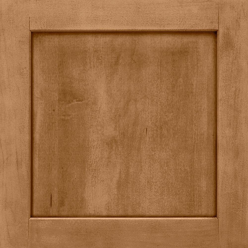 American Woodmark 14-9/16x14-1/2 in. Cabinet Door Sample in Townsend Maple Mocha Glaze