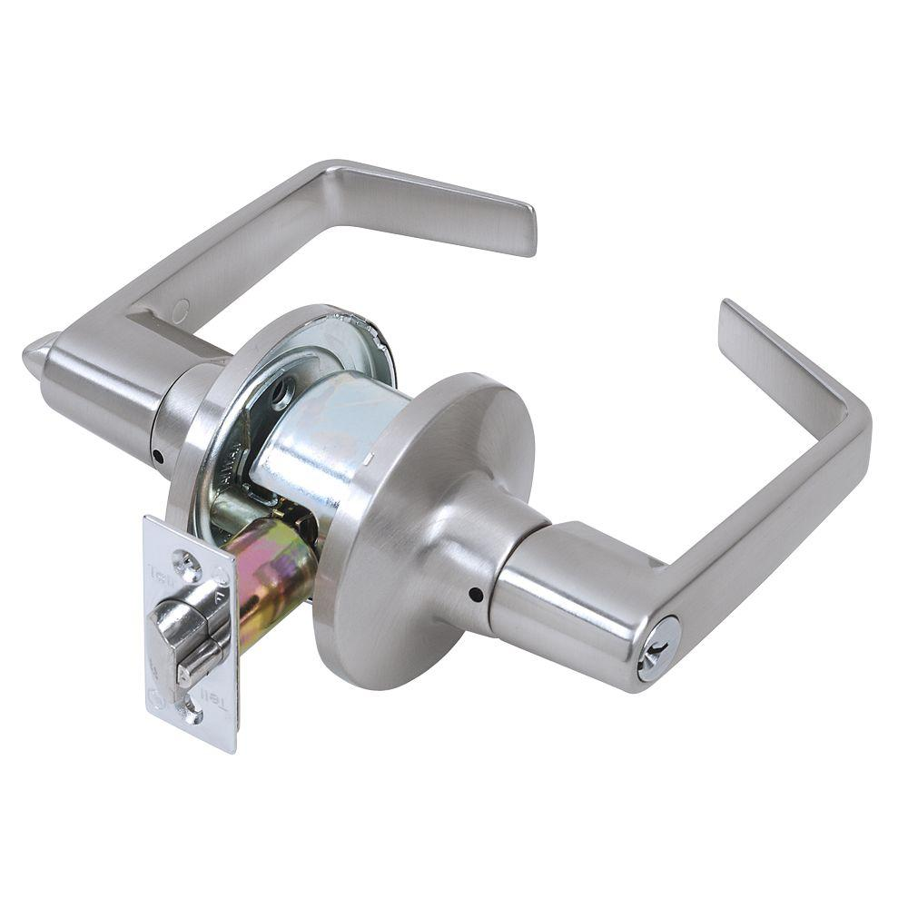 Tell  Cortland  Satin Chrome  Privacy Lockset  ANSI Grade 2  2 in.