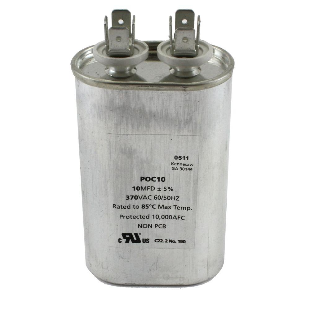Packard 370 Volts Motor Run Capacitor Oval 10MFD-DISCONTINUED