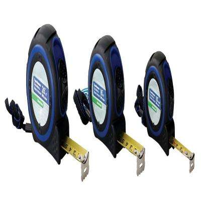 10 ft. x 5/8 in., 16 ft. x 1 in., 26 ft. x 1 in. Measuring Tapes (3-Piece)