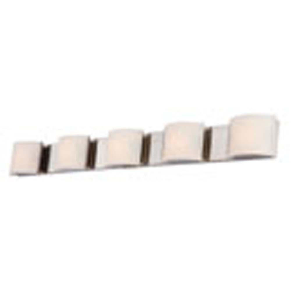 Filament Design Spectra 5-Light Matte Satin Nickel Bath Vanity Light