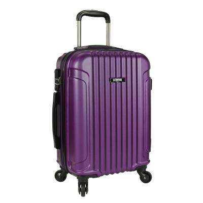 Akron 21 in. Hardside Spinner Luggage Suitcase, Purple