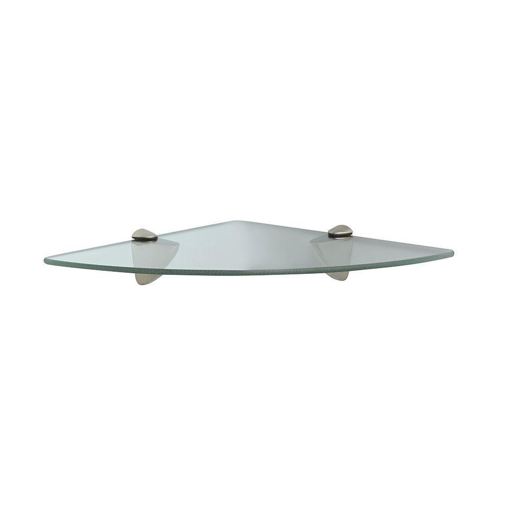 Knape & Vogt 12 in. D x 12 in. W x 2.25 in. H Satin Nickel Glass ...