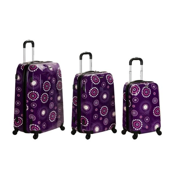 d4310d64e Rockland Rockland 3-Piece Vision Hardside Spinner Luggage set, Purplepearl