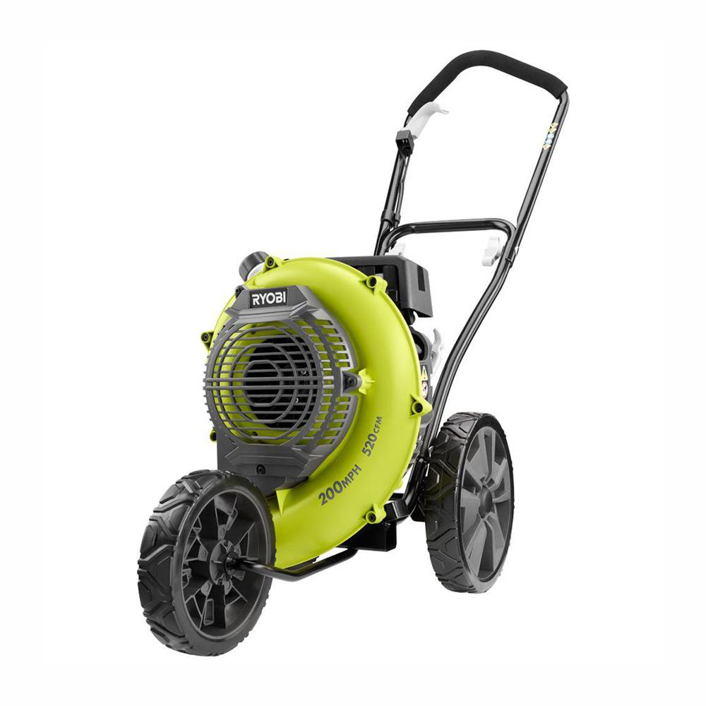 Ryobi 200 Mph 520 Cfm Gas Walk Behind Blower Ry42wb The Home Depot