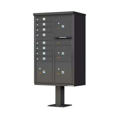 1570 Series 8 Mailboxes, 1 Outgoing Compartment, 4 Parcel Lockers, Vital Cluster Box Unit
