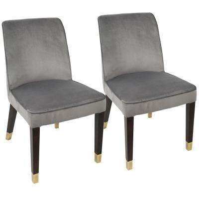 Zora Silver and Gold Dining Chair (Set of 2)