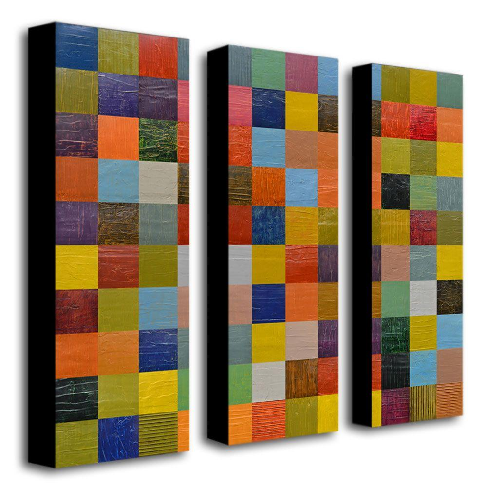 Collage Color Study Sketch by Michelle Calkins 3-Panel Wall Art Set