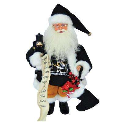 15 in. Missouri Tiger Santa with Nutcracker
