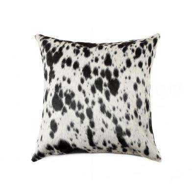 Torino S and P / Black and White 18 in. x 18 in. Cowhide Pillow
