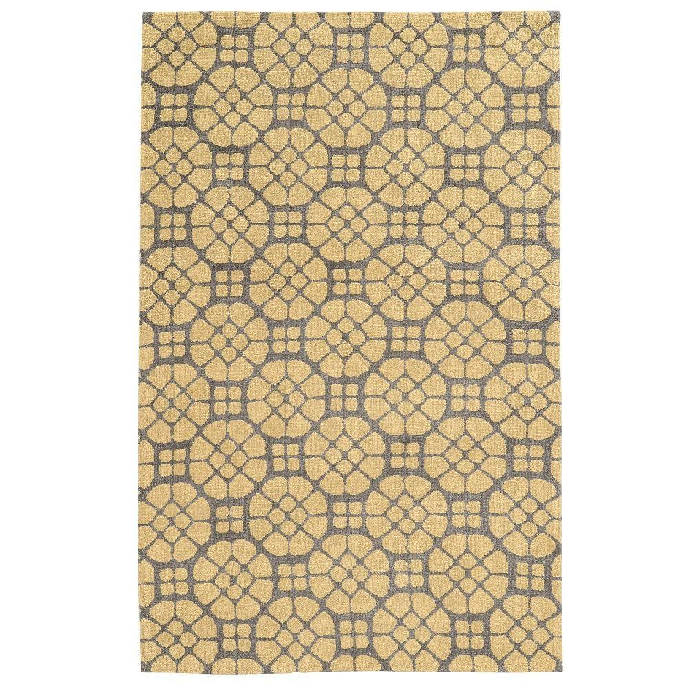 Geo Collection Grey/Butter 8 ft. x 10 ft. Indoor Area Rug