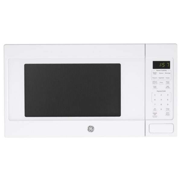 1.6 cu. ft. Countertop Microwave in White with Sensor Cooking