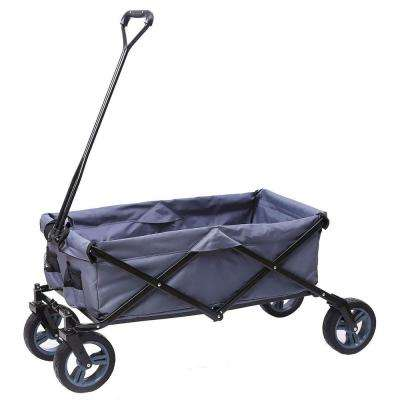 7 cu. ft. Steel Outdoor Folding Wagon in Gray