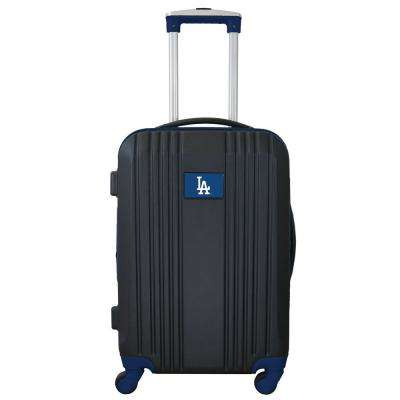 MLB Los Angeles Dodgers 21 in. Black Hardcase 2-Tone Luggage Carry-On Spinner Suitcase
