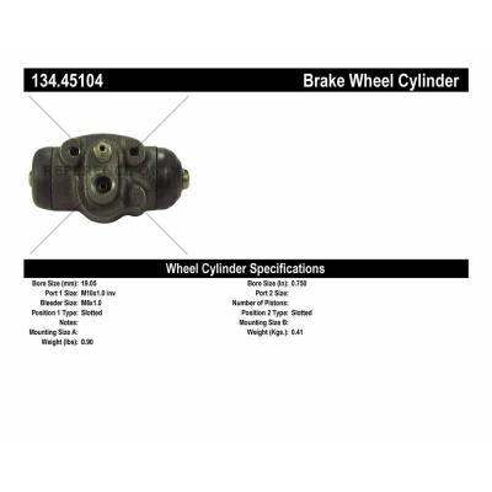 For 1995-2002 Kia Sportage Brake Hose Rear Centric 34477VP 1999 1996 1997 1998