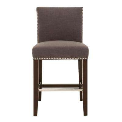 Soho 26 in. Sepia Fabric, Espresso Counter Stool