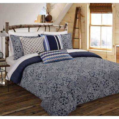 Cutwork Medallion Floral Full/Queen Comforter Set