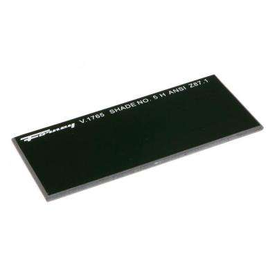 4-1/4 in. x 2 in. #5 Shade Hardened Glass Replacement Lens