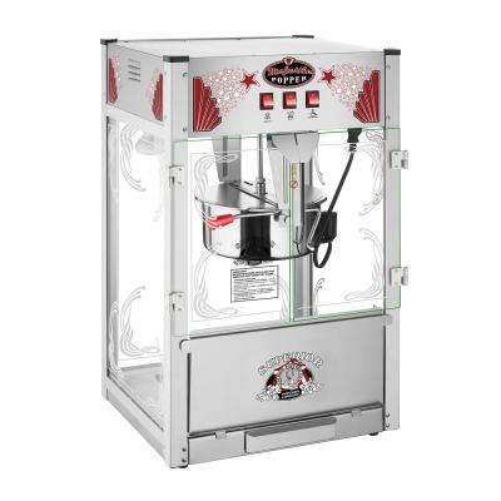 16 oz. Majestic Silver Countertop Commercial Style Popcorn Machine