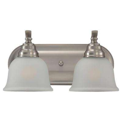 Wheaton 2-Light Brushed Nickel Vanity Fixture