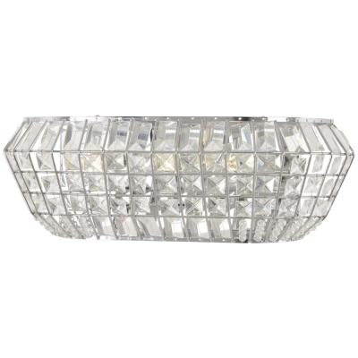 Braiden 3-Light Chrome Bath Light with Clear Crystal Glass Shades