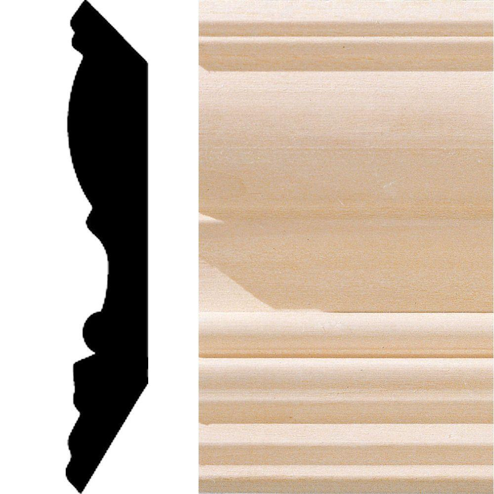 House of Fara 3/4 in. x 4-1/2 in. x 8 ft. Hardwood Crown Moulding