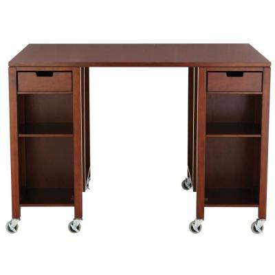 Craft Space Sequoia Brown Storage Table with Casters